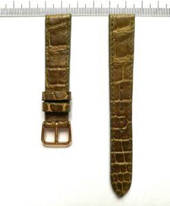 golden-green-handmade-crocodile-wrist-watch-strap-16mm