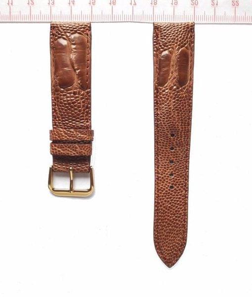 Brown Ostrich Wrist Watch Strap