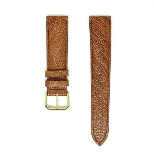 Light Brown Vietnam Ostrich Leather Wristwatch Strap