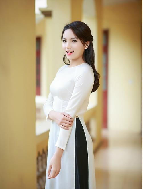 Vietnamese Ao Dai With Skirt