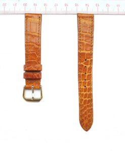 Yellow Crocodile Watch Strap 16mm