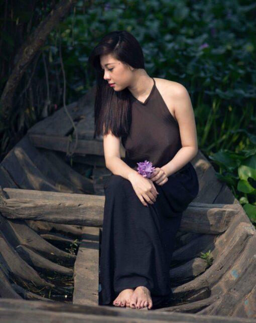 ao-yem-brown-black-long-skirt-hien-thao-shop