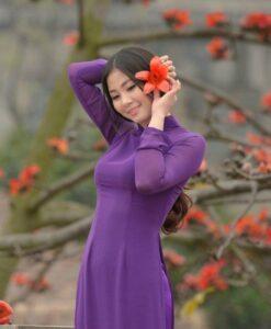 Vietnam Ao Dai Store Regal Purple Color