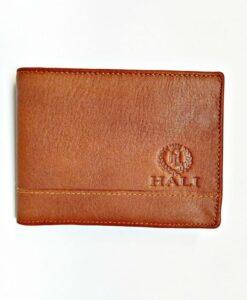 Handmade Cowhide Leather Men Billfold Wallet