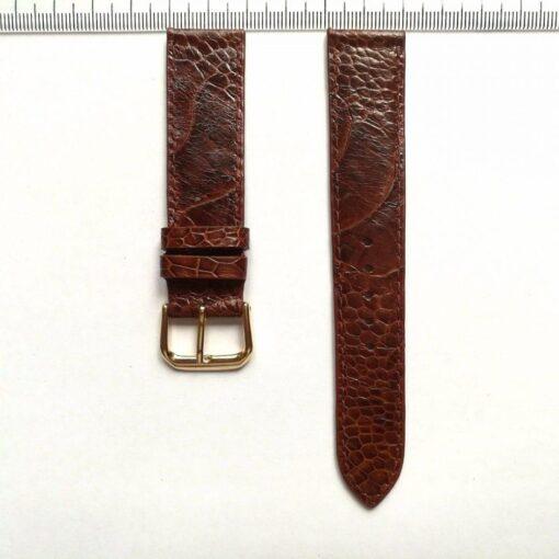 Watch Strap Ostrich Leather Dark Brown
