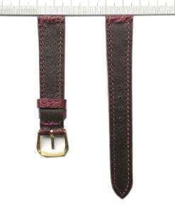 Vietnam-ostrich-watch-strap-16mm-purple-grain-pattern