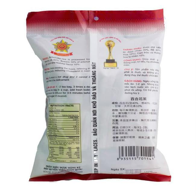 artichoke tea bag vinh tien