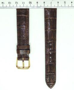 Chocolate Crocodile Alligator Wrist Watch Strap 18mm