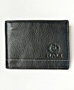 Vietnam Black Cow Leather Men Billfold Wallet