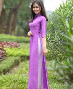 Bubble Gum Ao Dai Vietnam Silkworm 4