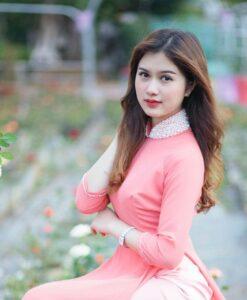 Soft Pink Silk Ao Dai Vietnam