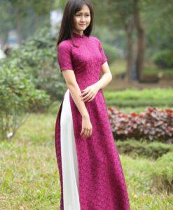 Vietnam Ao Dai Natural Silkworm 2