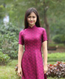 Vietnam Ao Dai Natural Silkworm