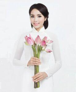 White Ao Dai Vietnam Double Layers