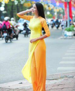 Mixed Yellow Ao Dai Vietnam 2