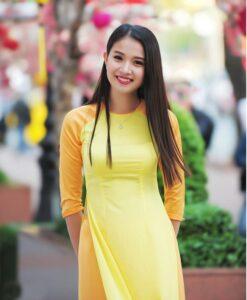 Mixed Yellow Ao Dai Vietnam
