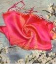 Orange Pink Women Scarves Natural Silkworm