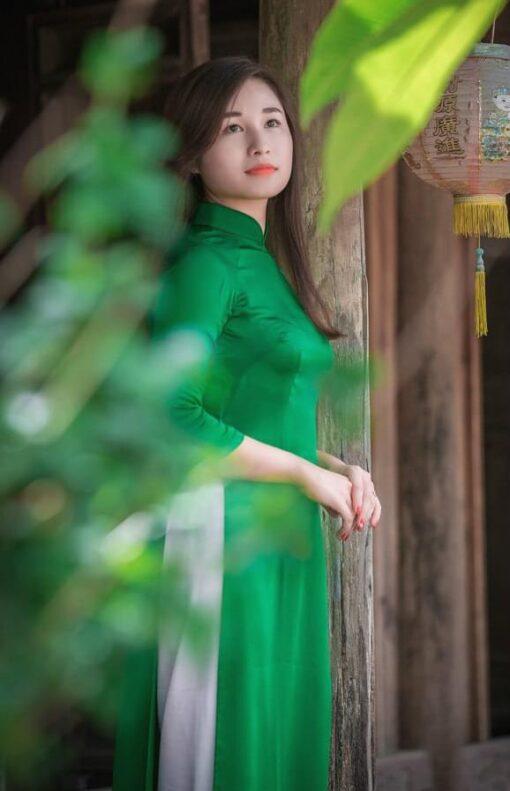 Light Green Ao Dai Viet Nam 2