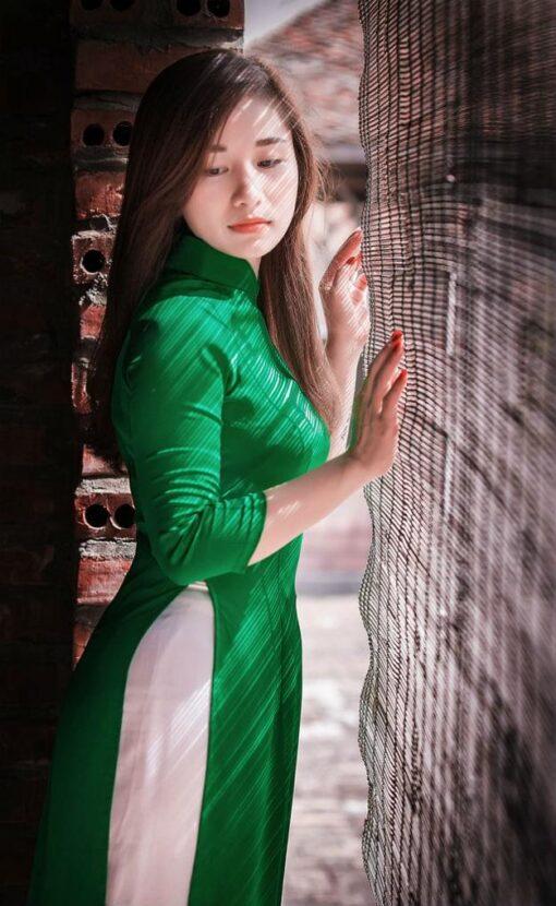 Light Green Ao Dai Viet Nam