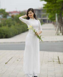 White Chiffon Ao Dai Viet Nam 2