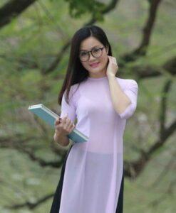Ao Dai Vietnam Light Pink Chiffon