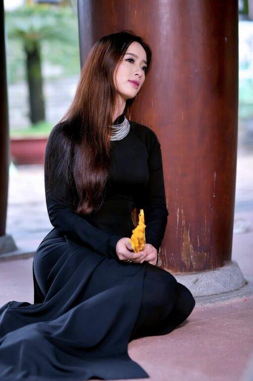 Sell Ao Dai Viet Nam Mysterious Black 2