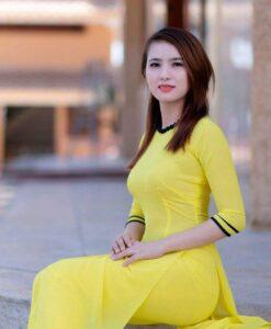Vietnamese Long Dress Ao Dai Yellow
