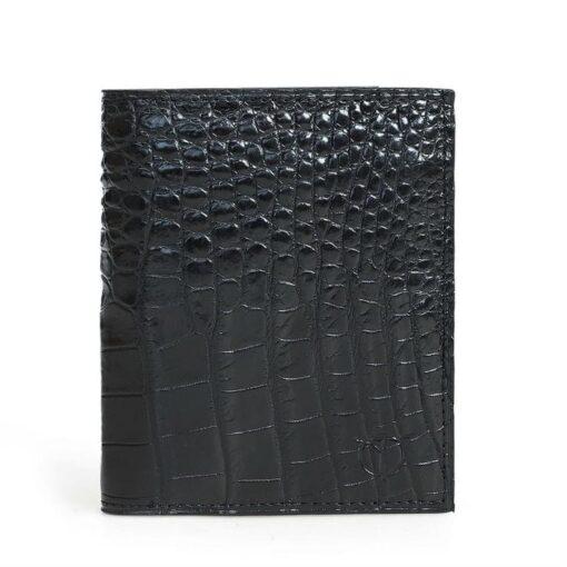 Black Alligator Leg Skin Men's Wallet
