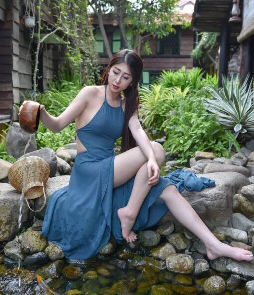 Neon Blue Ao Yem Vietnam 30